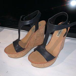 Black STEVE MADDEN High Heel Wedges